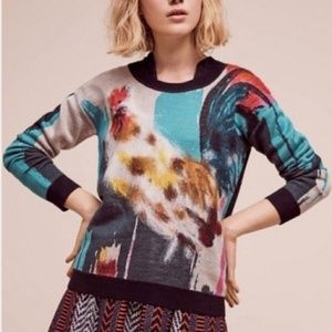Anthropologie Rooster Sweater Size XS